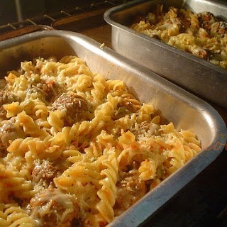 Pasta and Meatball Bake.