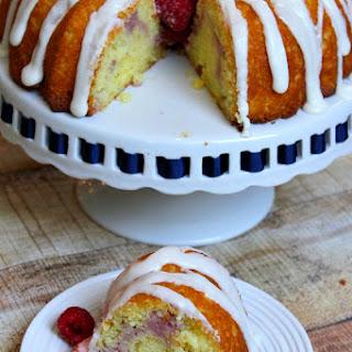 Raspberry- Lemonade Bundt Cake