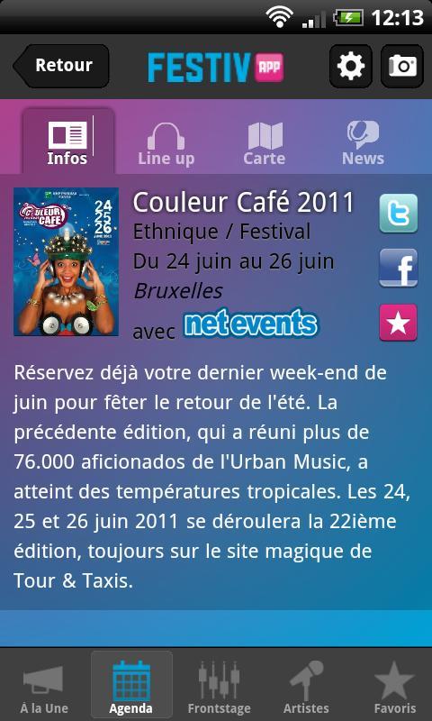Festiv'App- screenshot