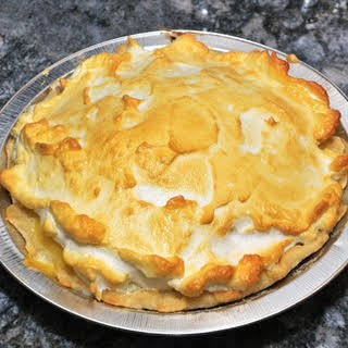 Bullock's Heavenly Lemon Pie With Meringue Crust.