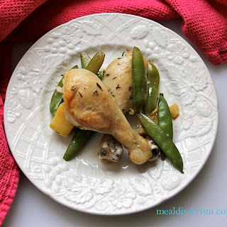 Lemon and Thyme Chicken with Snap Peas