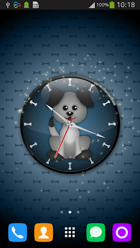Live Wallpaper Dog Clock