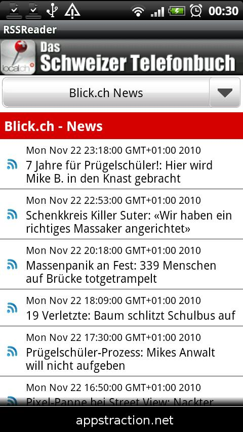 RSS Reader Swiss Edition - screenshot