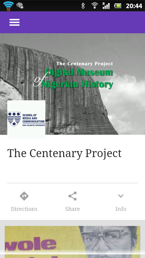 The Centenary Project- screenshot