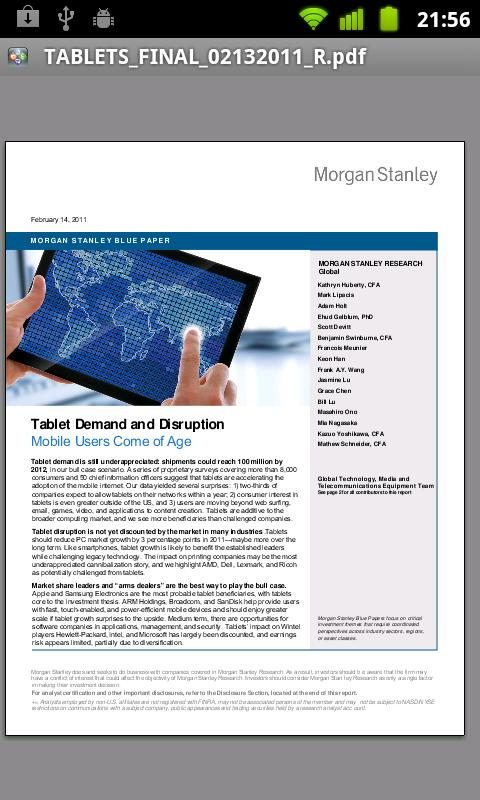Morgan Stanley Research - screenshot