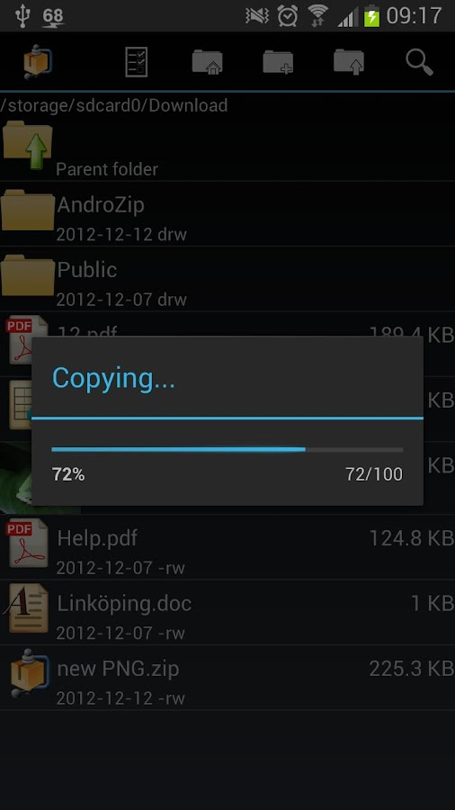 AndroZip™  Pro File Manager - screenshot