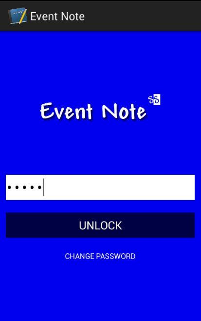 Event Note - screenshot