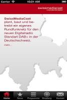 Screenshot of SwissMediaCast