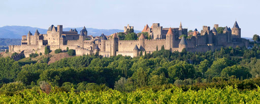 Cité de Carcassonne in the city of modern Carcassonne, is a medieval fortified city of Gothic architecture. It's in the Languedoc-Roussillon region of southern France.