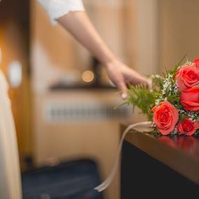 Lets go by Jorge Asad - Wedding Getting Ready ( details, elegance, wedding, flowers, bride, lets go )