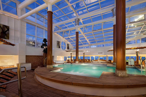 Celebrity_Infinity_Solarium - You'll appreciate an evening dip in Celebrity Infinity's pretty Solarium.
