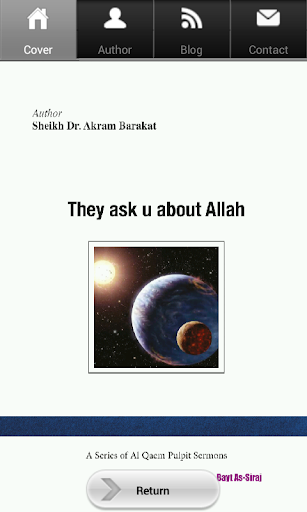 They ask you about Allah