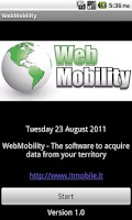 Screenshot of WebMobility