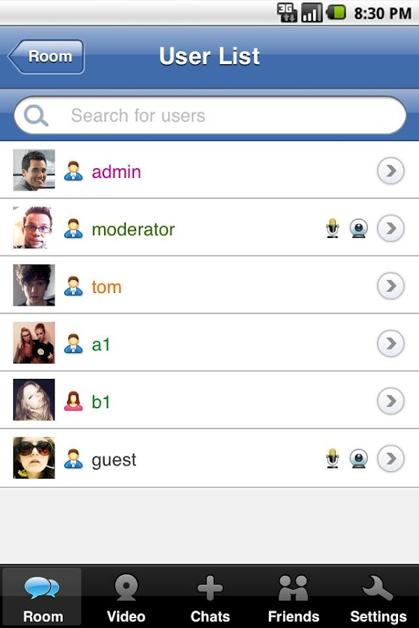 123FlashChat1.1.0- screenshot