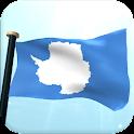 Antarctica Flag 3D Wallpaper icon