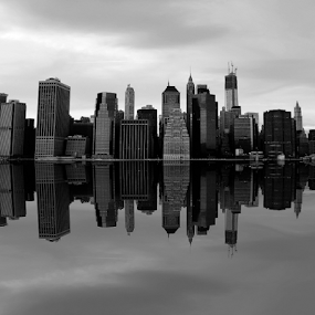 Manhattan Skyline by Gina Gomez - Black & White Buildings & Architecture ( pictures of new york buildings, photos of new york skyline, manhattan skyline, new york landscape, new york skyline, pics of new york skyline, manhattan landscape, new york skyline pics, new york building photos, new york buildings, new york building pictures, nyc, cityscape, city landscape, manhattan buildings, new york city skyline, new york city, new york skyline photo, city skyline )