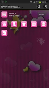 GO Launcher Theme lovely pink - screenshot thumbnail