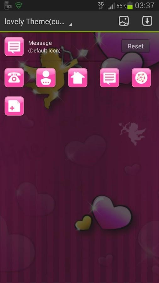 GO Launcher Theme lovely pink - screenshot