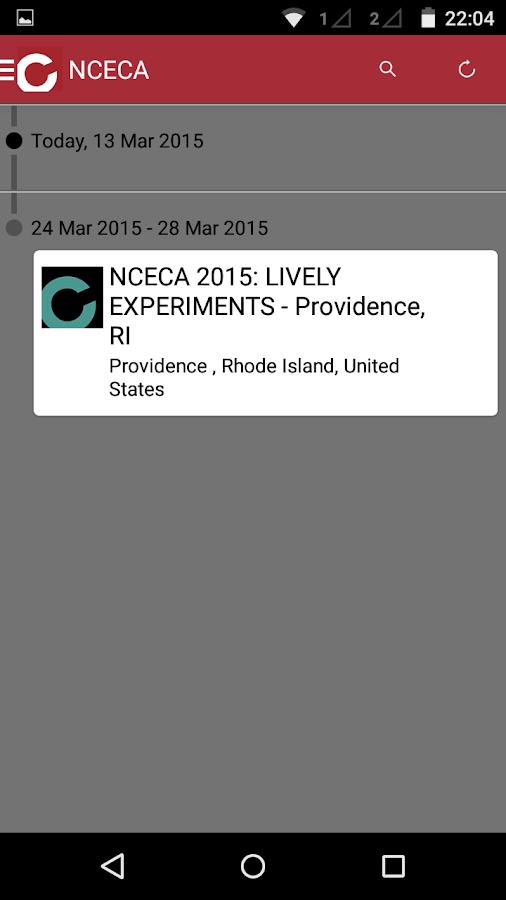 NCECA Events App - screenshot