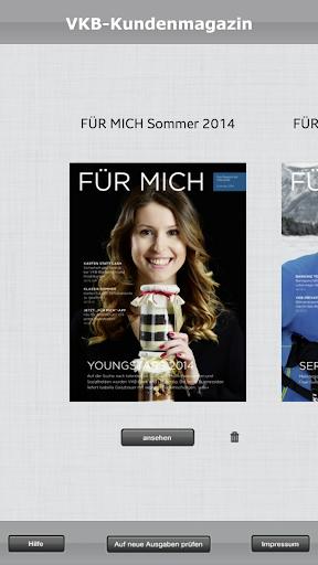 FÜR MICH Magazin der VKB-Bank