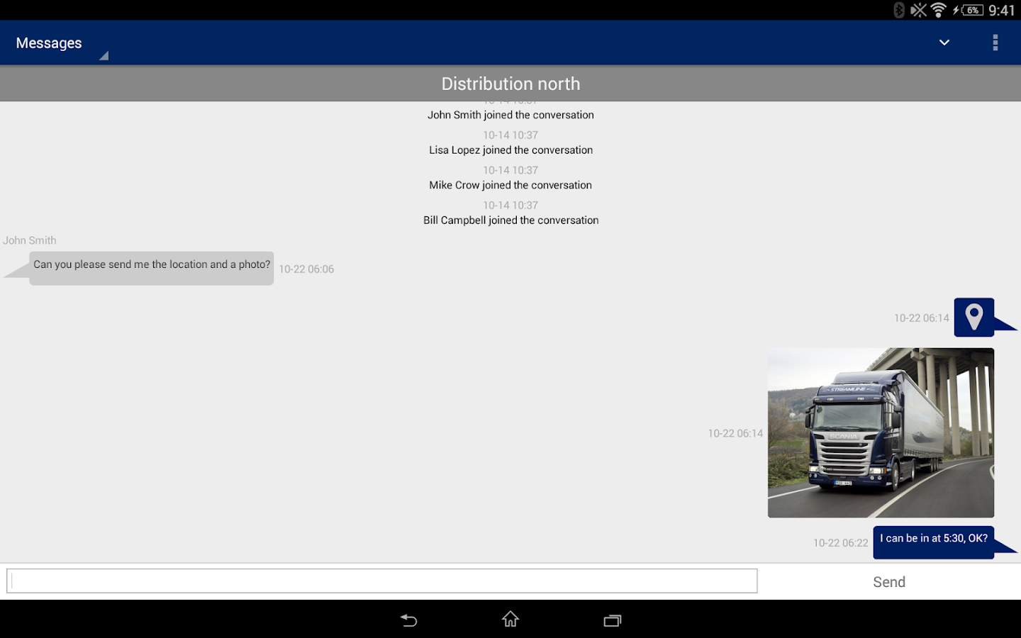 Scania Fleet Management - screenshot