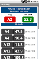 Screenshot of De flits-app