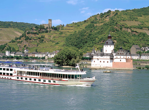 Sail past the tiny island of Pfalz Island and view  historic Pfalzgrafenstein Castle, built between 1336 and 1340. as you explore the Rihine River aboard  Viking Pride.
