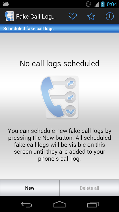 Fake Call Log- screenshot