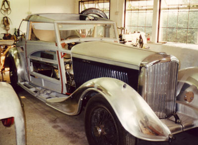 1935 Bentley during coachwork