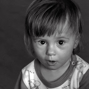 awe by Brut Carniollus - Babies & Children Children Candids ( child, black and white, portrait,  )