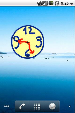 scribble widget clock 2x2 - screenshot