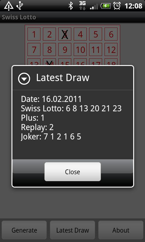 Swiss Lotto - screenshot