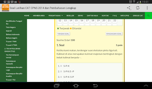 Latihan Cat Cpns Android Apps On Google Play