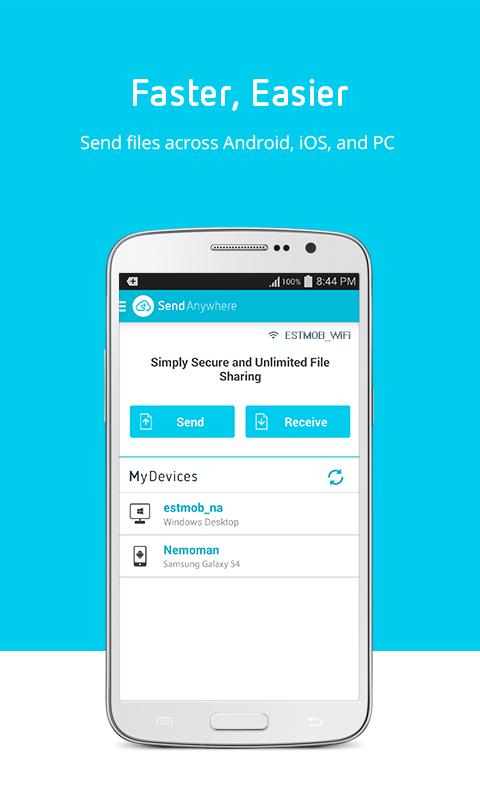 Send Anywhere (File Transfer) - screenshot