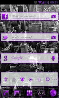 Screenshot of GOWidget Purple ICS Light Free
