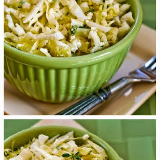 Greek Cabbage Salad with Feta and Fresh Thyme.