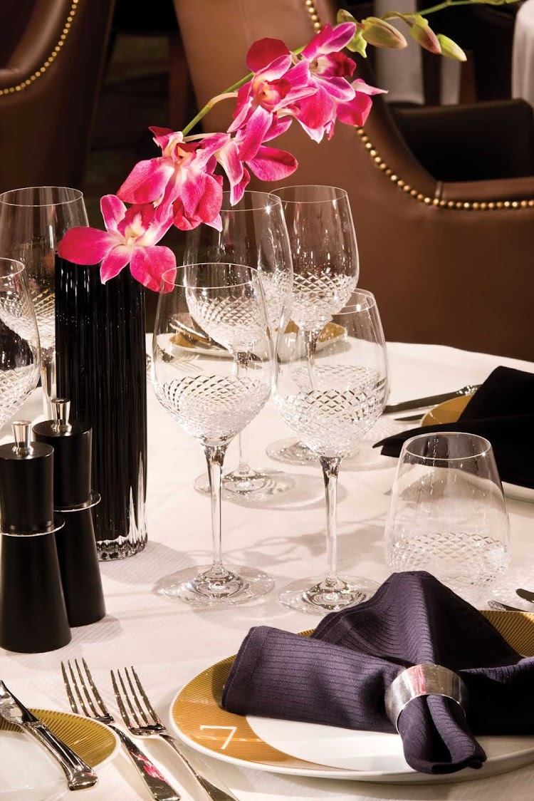 You'll appreciate the attention to detail as you dine in Seven Sea Voyager's Prime 7 Steakhouse.