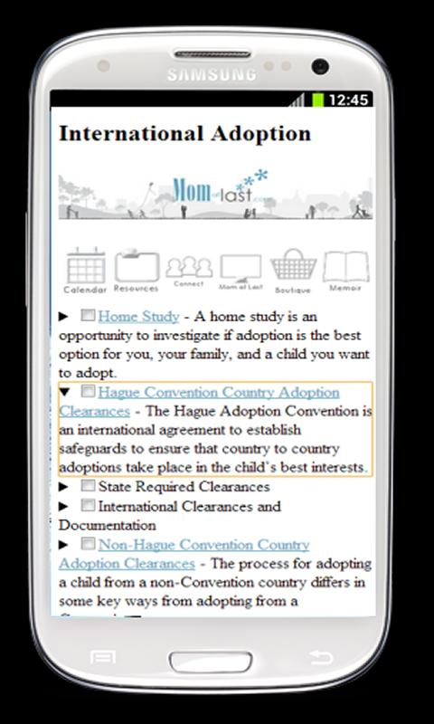 TheAdoptionApp for Android- screenshot