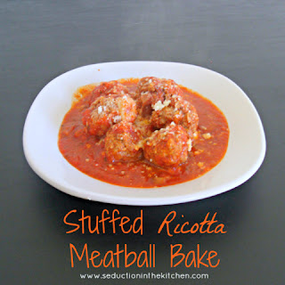 Stuffed Ricotta Meatball Bake