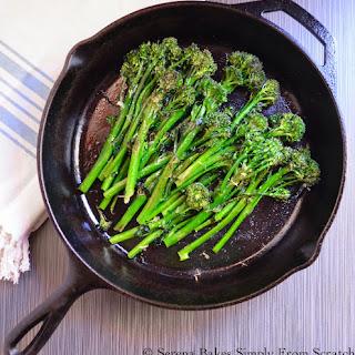 Oven Roasted Broccoli or Broccolini.