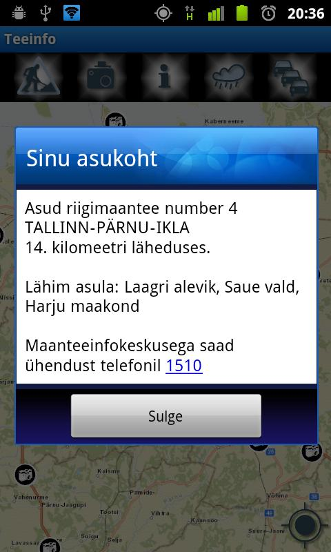 Teeinfo- screenshot