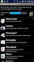 Screenshot of Transparent Launcher Premium