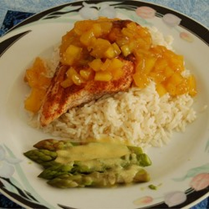 Grilled Spiced Chicken with Caribbean Citrus-Mango Sauce Recipe