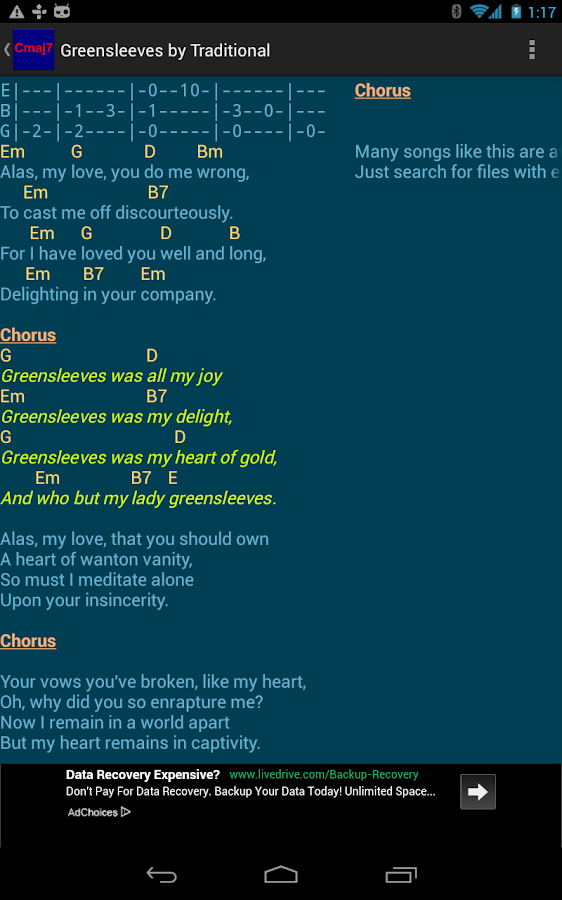PG Songbook - screenshot