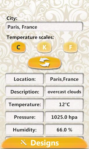 复古设计 - 时钟天气预报微件