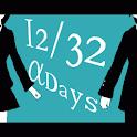 12/32 αDays logo