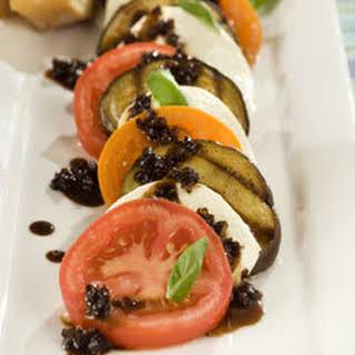 Grilled Eggplant Caprese Salad.