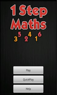 One Step Maths- screenshot thumbnail