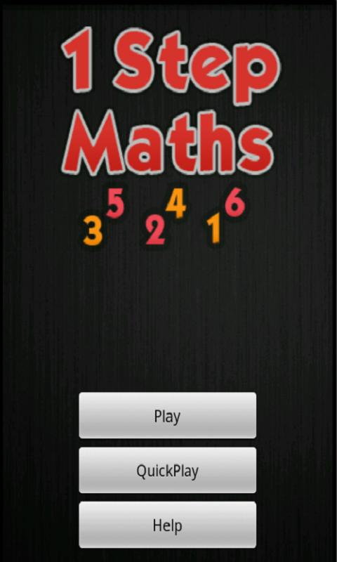 One Step Maths- screenshot