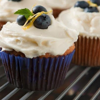 Blueberry Lemon Beer Cupcake